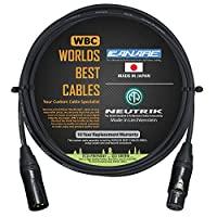 1.83 米 - 四根平衡麦克风线由 WORLDS BEST CABLES 定制 - 使用 Canare L-4E6S 线和Neutrik NC3MXX-B 公头和 NC3FXX-B 母头 XLR 插头。