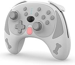 用于开关/开关的无线控制台/PC控制台,Puppy 无线蓝牙游戏手柄控制器,适用于 Switch Pro 的双电机六轴无线哈吉游戏手柄,带唤醒功能
