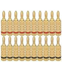 WGGE WG-3333 24k 鍍金揚聲器香蕉插頭螺絲類型 10 Pairs (20 PLUGS)