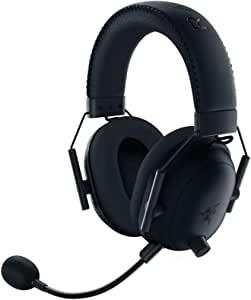 Razer 雷蛇 BlackShark V2 Pro 无线游戏耳机:THX 7.1 空间环绕声 - 50 毫米驱动器 - 可拆卸麦克风 - 适用于 PC、PS4、PS5、Switch、Xbox One、Xbox Series X 和 S - 3.5 毫米耳机插孔 - 黑色