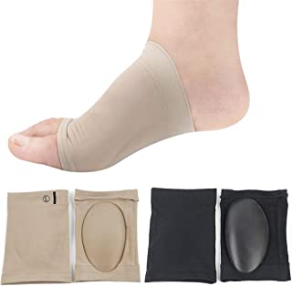足弓支撑脚底*支撑带 2 双足足弓支撑 用于足底* 缓解男女脚痛(卡其色,黑色)