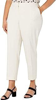 Bar III 女式双向弹力口袋工作裤,珍珠色,16W 象牙色