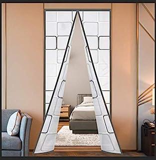 隔热门帘,热磁自密封 EVA 门屏冬季挡板挡板隔热门罩,适用于厨房、卧室、空调室,无手,适合24 x 80 英寸(约 60.9 x 203.2 厘米)的门,灰色