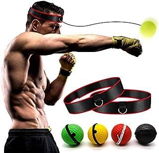 Boxing Reflex Ball【家庭套装】 – 拳击训练球 2 个难度级别拳击球带头带,适合反应、敏捷、拳击速度、格斗技能和手眼协调训练