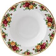 ROYAL ALBERT 故国玫瑰 镶边汤碗 24厘米 白色,骨瓷, 25厘米