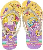Havaianas 儿童 沙滩凉鞋 (迪士尼 公主图案)[ HA5-080 / KIDS SLIM PRINCESS ] 可爱 海 沙滩 沙滩