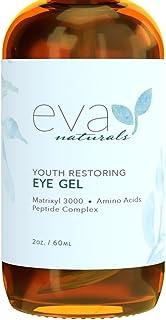 Eva Naturals 眼部精华-更大尺寸,2盎司/瓶,60毫升-缓解眼部黑眼圈,肿大等问题,是解决鱼尾纹,细纹和眼部皱纹的一款紧实护理眼霜