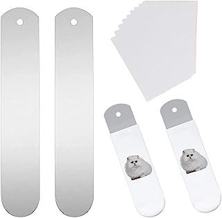 2 件金属直袜夹具,带 10 张热转印纸,铝金属袜板,热压转印染料升华印花袜 DIY 用品
