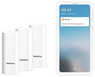 Netatmo DTG-DE Smarte Tür-und Fenstersensoren, drahtlos, einteilig, 3er Pack Schwingungserkennungen 门窗传感器