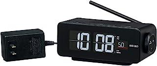 Seiko Clock 精工时钟 座钟 黑色 主体尺寸:7.2厘米×16.8厘米×9.6厘米 电波 数字 交流式 彩色液晶显示 C3系列 FLIP DL213K