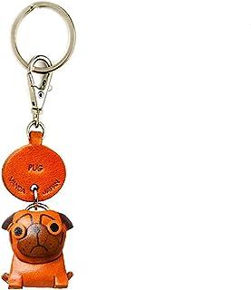 Pug Leather Dog 小钥匙链 VANCA CRAFT 收藏钥匙圈吊坠 日本制造