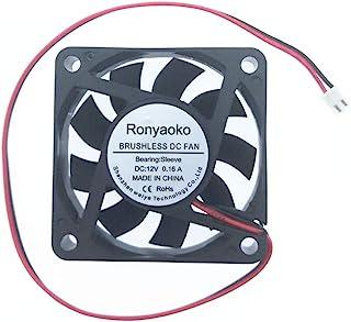 Ronyaoko 高速 DC 12V 无刷冷却风扇 60mm x 60mm x 15mm 6cm 0.16A 2 电线电脑机箱 PC 冷却器 XH2.54