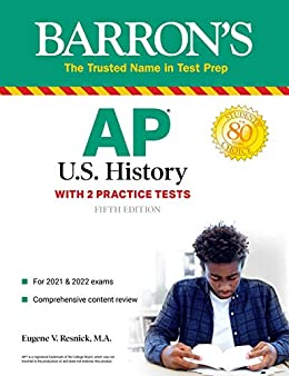 """""""AP US History: With 2 Practice Tests (Barron's Test Prep) (English Edition)"""",作者:[Eugene V. Resnick]"""