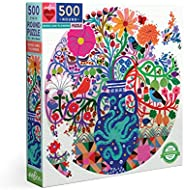 eeBoo's Piece and Love 鸟和花朵 500 片圆形