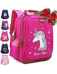 女孩背包独角兽 38.10 厘米 | 粉色儿童书包 适用于幼儿园或小学