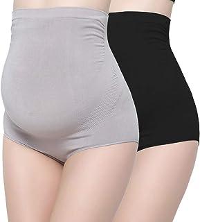 Topwhere 竹纤维孕妇内裤,女式超高腰超弹性孕妇内裤