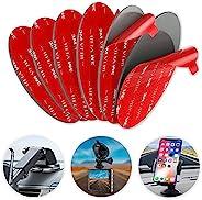 双面胶适用于吸盘安装,6 件 3.15 英寸(80 毫米)VHB 圆形双面胶垫,用于仪表板安装盘和挡风玻璃摄像头,GPS,车载手机支架