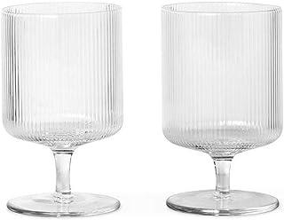 Ripple Glassware 耳道式/入耳式 黑色 Wine Glasses, Set of 2, Clear 100488211