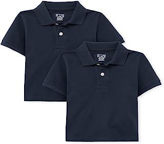 The Children's Place 男婴短袖 Polo 衫,两件装 Nautico 6-9 Months