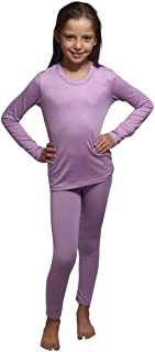 Outland 兒童保暖內衣套裝;打底層;柔軟羊毛;上衣和打底褲