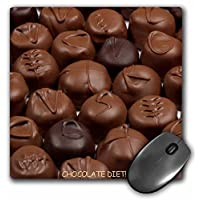3dRose LLC 20.32 x 20.32 x 0.64 厘米鼠标垫,巧克力饮食松露 (mp_6012_1)
