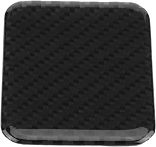Senyar 座椅加热开关装饰,ABS 塑料碳纤维汽车按钮控制开关盖装饰框架贴纸(全)
