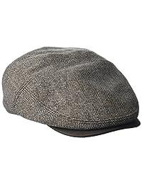 Henschel 男士人字呢新形状象牙帽带麂皮帽