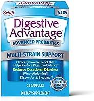 Schiff 旭福 Digestive Advantage 多菌支持益生元膠囊(一盒24粒)-經驗證有助于恢復吸收平衡*,有益于機體*