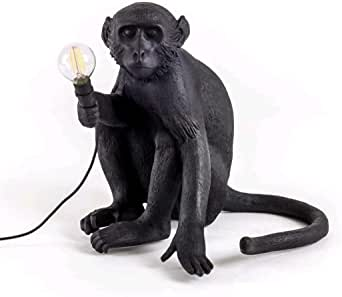 Seletti Monkey 灯座,树脂,黑色,45 x 39 x 36 厘米