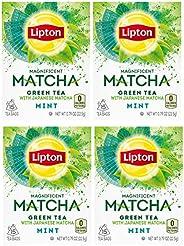 Lipton Magnificent Matcha Green Tea Bags, Mint 15 ct (Pack of 4)