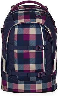 satch 包装学校背包48厘米 Berry Carry Karo Lila Blau one size
