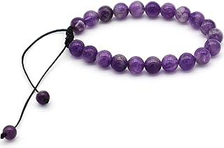 ZIMA 8 毫米弹力水晶珠手链,*能量宝石圆珠,水晶手镯中性弹力手链,适合女士男士女孩生日礼物