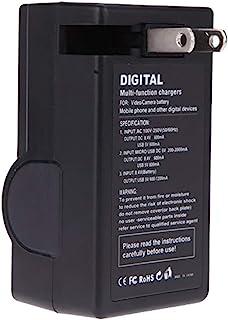 Amsahr 数码替换相机和摄像机迷你电池旅行充电器,灰色 (CH-GEGB20-1CT)