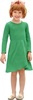 City Threads 女童超柔软棉质长袖热身连衣裙美国制造