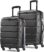 Samsonite 新秀麗 Omni Pc Hardside 可擴展行李箱,帶萬向輪,黑色,2-Piece Set (20/24)