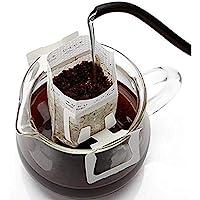 咖啡过滤纸袋 100 件,悬挂耳滴咖啡袋 单份一次性滴滤咖啡过滤袋 非常适合家庭、旅行、办公日常使用