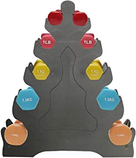 Eschindler 哑铃架 仅 3 层哑铃支架 自由重量支架 适用于家庭健身房组织 *大承重 35 磅(无哑铃) (A)