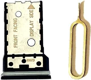 VIESUP 适用于摩托罗拉 Moto Edge + SIM 卡 Micro SD 卡托盘支架替换装,带拆卸工具 [1 件装]