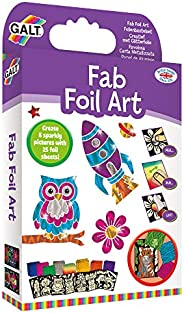 Fab Foil Art Kit With 8 Adhesive Pictures And 25 Foil Sheets