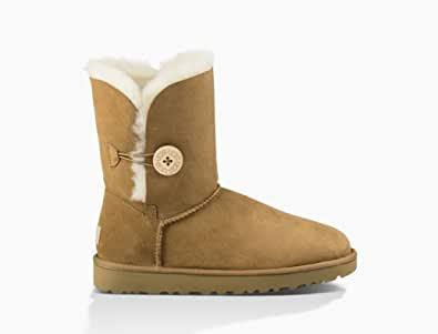UGG Australia BAILEY BUTTON II 女士 女靴 羊毛 雪地靴 红棕色 Size37 (亚马逊自营 保税区发货)