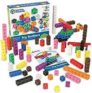 Learning Resources MathLink Cube 大型建筑玩具,富有想象力的游戲,學習數學技能,200個多維數據集,適合5歲以上的人群