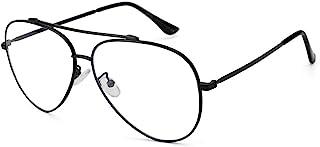 Cyxus 蓝光紫外线阻隔计算机玻璃,*小化*双桥抗眼部应变飞行员眼镜,中性款 1.00