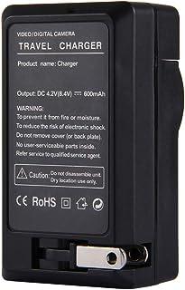 Amsahr 数码替换相机和摄像机迷你电池旅行充电器,灰色CH-FJNP60-1CT (CH-FJNP60-1CT) 灰色