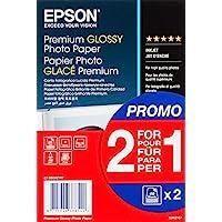 Epson 爱普生 优质光面相纸喷墨 255g/m2 100x150mm 2x40张,釉面