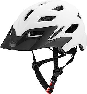 Lixada 儿童自行车头盔带减震 EPS 泡沫,16 个通风孔,可调节拨盘系统,轻质自行车骑行滑冰运动头盔带*灯,适合男孩女孩(19.7-22.4 英寸)