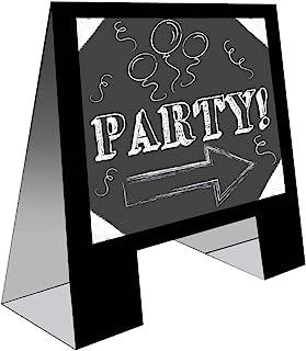 Creative Converting 婚礼标志文字板黑板标牌婚礼欢迎标牌婚礼装饰新娘淋浴装饰黑板画架 45.72 厘米 x 35.56 厘米