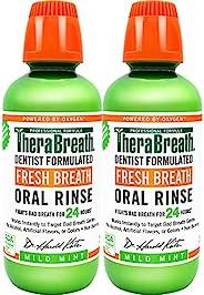 TheraBreath Dentist Formulated 24 小时漱口水,温和薄荷,清新口气,16 盎司,约473.12 毫升(2 件装)