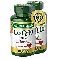 Nature's Bounty 自然之寶 輔酶 Q10 軟膠囊,膳食補充劑,有益于心臟,200 毫克,2包,160 粒