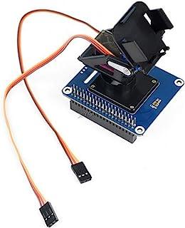 2-DOF Pan-Tilt HAT 板载 PCA9685 PWM 芯片 TSL25911FN 光传感器控制相机运动感光强度 通过I2C 接口适用于 Raspberry Pi 4 3 2 型号 B+ B Zero W WH Jetson Nan...