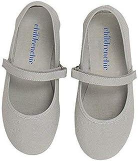 ChildrenChic Mary Jane 平底鞋带钩环绑带 - 适合女孩(婴儿/幼儿/小童)